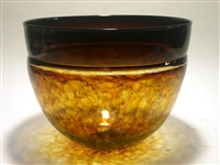 David Leppla Hand Blown Encalmo Glass Bowl