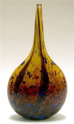 Danny Polk Medium Hand Blown Glass Wild Honey Mandolin Vase