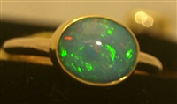 Kevin and Joanne Dowdy Oval Opal/Gold Ring