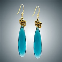 Judy Bliss London Blue Quartz Pendant and Pyrite Earrings