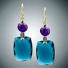 Judy Bliss London Blue Quartz / Amethyst earrings