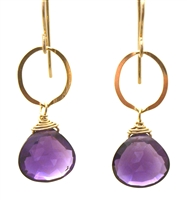 Judy Brandon Amethyst Earrings