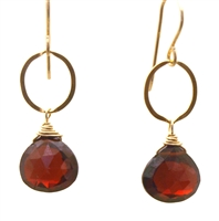 Judy Brandon Garnet Earrings