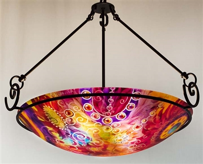 Jenny Floravita Visions of Arizona Abstract Chandelier