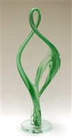 John McDonald Large Custom Green Glass Double Continuum