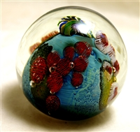 "Josh Simpson 3"" Inhabited Planet Glass Paperweight"
