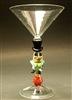 Jenni Woock Mad Hatter Martini Glass