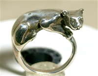Jim Yesberger Vintage Sterling Silver Panther Ring