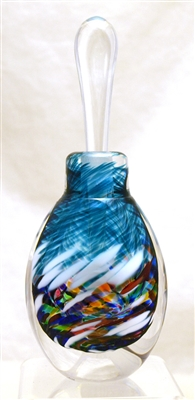 Loretta Eby Hand Blown Glass Blue Aurora Perfume
