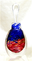Loretta Eby Hand Blown Glass Blue Ruby Aurora Perfume