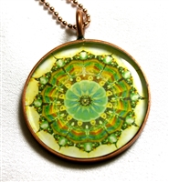 Leilani Henry Small Green Brain Jewel Pendant