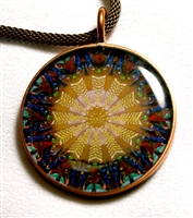 Leilani Henry Small Gold/Blue Brain Jewel Pendant