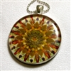 Leilani Henry Small Orange/gold Brain Jewel Pendant