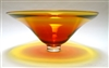 Laurie Thal Large Gold Hand Blown Glass Bowl