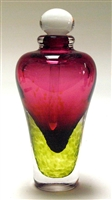 Laurie Thal Round Ruby Lime Perfume Hand Blown Glass Bottle