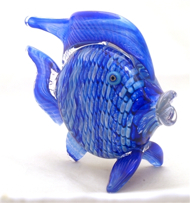 Michael Maddy and Rina Fehrensen Large Blue Fish Sculpture