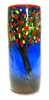 Michael Maddy and Rina Fehrensen Hand Blown Glass Cherry Tree Cylinder Vase