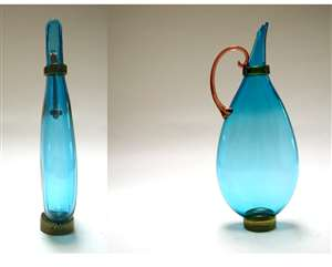 Michael Schunke Medium Flat Blue Pitcher