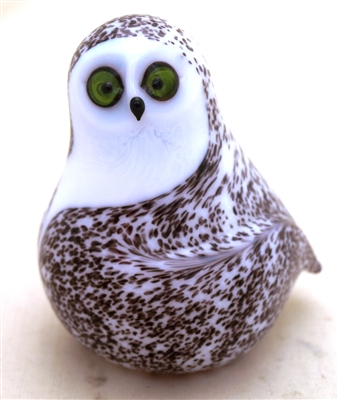 Orient and Flume Snow Owl Glass Sculpture