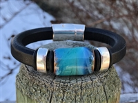 Olive Parker Turquoise Skies Leather Bracelet