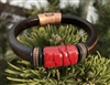Olive Parker Ruby River Leather Bracelet