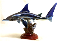 Paul Labrie Hammer Head Shark Glass Sculpture