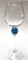 Minh Martin Turquoise Blue Planet Red Wine Glass