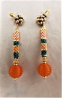 Sher Berman Orange Lampwork earrings