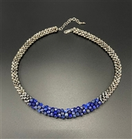 Sher Berman Lapis Crochet necklace