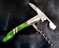 Santa Fe Stone Works  Exotic Jewel Design Waiter's Knife
