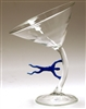 Bandu Dunham Hand Blown Hurricane Martini Glass