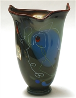 Scott Simmons Brown Wavy Top Vase
