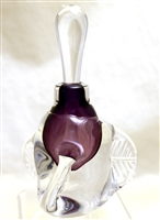 Loretta Eby Hand Blown Glass Purple tri Wing  Perfume