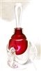 Loretta Eby Hand Blown Glass Ruby Tri Wing Perfume