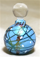 Bryce Dimitruk Hand Blown Glass Round Turquoise Silver Perfume