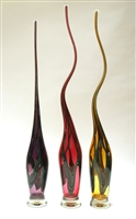 Victor Chiarizia Hand Blown Glass Swan Sculptures (set of 3)