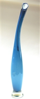 Victor Chiarizia Hand Blown Glass  Aqua Blue La Brezza Sculpture