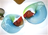 Paul Willsea and Carol O'Brien Hand Blown Glass Wall Platter Set