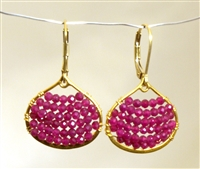 Wendy Lin Ruby Nora Crystal Earrings