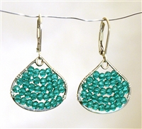 Wendy Lin Nora Turquoise Blue Crystal Earrings