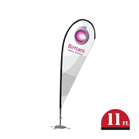 Bandera Indoor 12ft. | Teardrop | Single-Sided Graphic Package