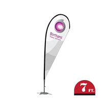 Bandera Indoor 8ft. | Teardrop | Single-Sided Graphic Package