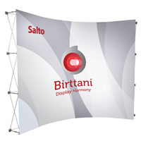 Salto Curved 10ft. | Single-Sided Graphic Package
