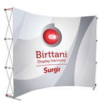 Surgir Curved Magnetic 10ft. | Single-Sided Graphic Package
