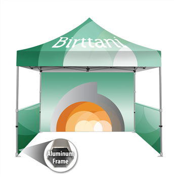 Tenda 10' x10' Aluminum | Canopy | Single-Sided Wall Graphic Package