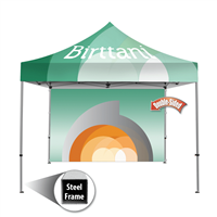 Tenda 10' x10' Steel | Canopy | Double-Sided Wall Graphic Package