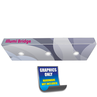 Illumi Bridge 3ft. | Single-sided w/ End Caps Print