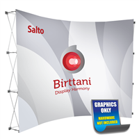 Salto 10ft. Curved | Single-Sided Graphic Print