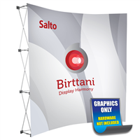 Salto 8ft. Curved | Single-Sided Graphic Print