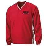 C.H. Sport-Tek red V-neck Pullover jacket